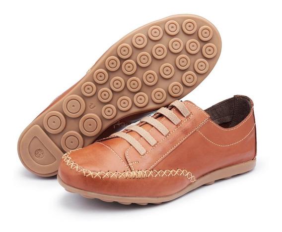 Sapato Baixo Social 100% Couro Sapatilha Confortável