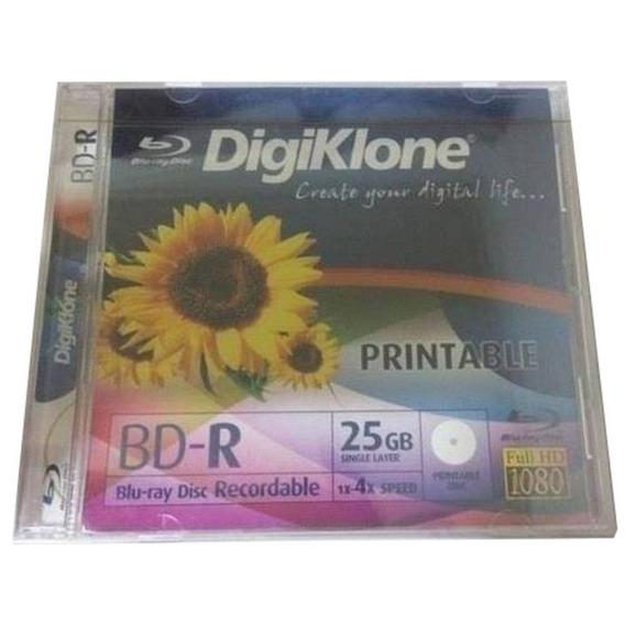 Kit 10 Mídia Blu-ray Digiklone 25gb 4x Bd-r Fullhd Printable