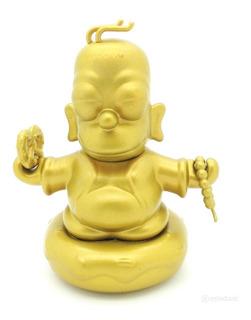 Kidrobot The Simpsons Homer Buddha Gold