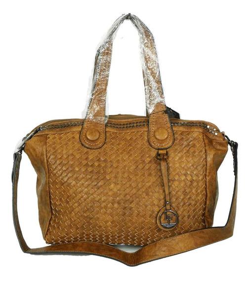 Bolsa Feminina Couro Marrom Modelo Shopping Grande Lf18-5048