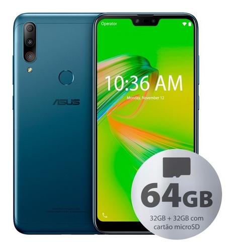 Celular Asus Zb634kl Zenfone Max Shot 64gb (32gb+32gb) Azul
