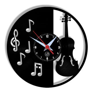 Relógio De Parede Vinil - Violino Instrumento Música