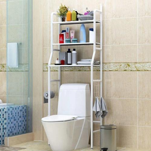Repisa Baño Muebles Organizador Fierro Portatil Estante
