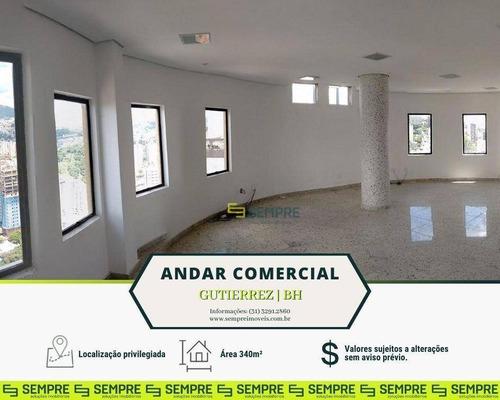 Imagem 1 de 15 de Andar Corporativo À Venda, 340 M² E 06 Vagas - Gutierrez - Belo Horizonte/mg - Ac0067