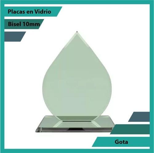 Placas En Vidrio Forma Gota