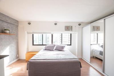 Studio No 7º Andar Mobiliado Com 1 Dormitório - Id: 892907624 - 207624