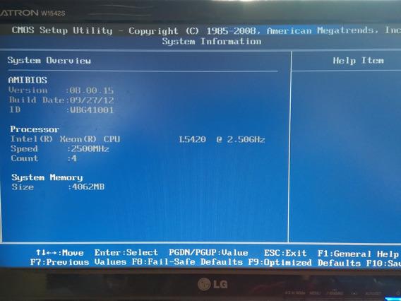 Placa Servidor Pc Xeon L5420 2.5 Ghz 12mb L2 + 4gb Ram