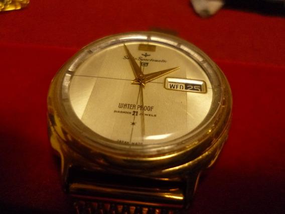 Relógio Seiko Sportmatic Automático, 21 Jewels, Gold Plated