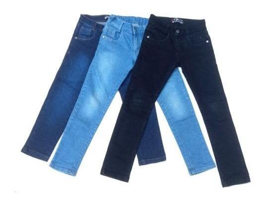 Lote C/2 Calças Jeans Infantil Feminina Do 2 A16 Anos Lindas