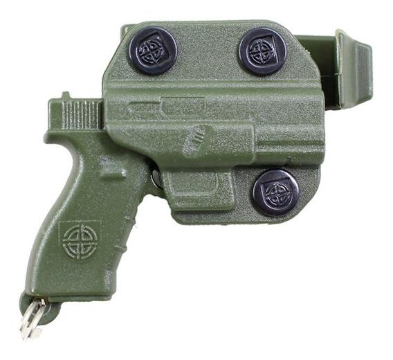 Chaveiro Personalizado Com Formato De Pistola Com Coldre