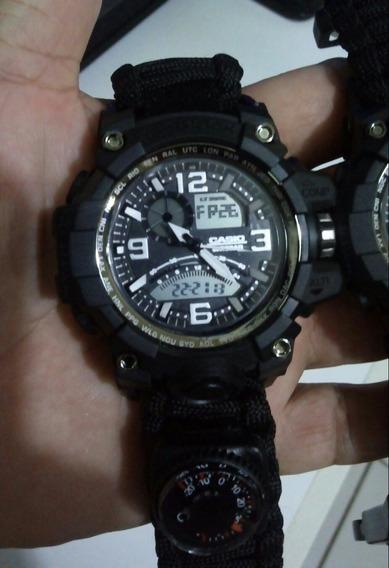 Relógio Masculino Tático Sobrevivência