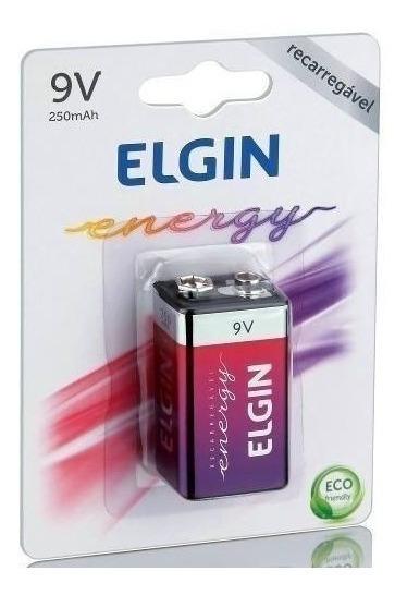 Bateria Recarregavel 9v 250 Mah Elgin Original Nfe
