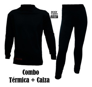 Combo Calza + Remera Termica Body Therm Hombre Mujer