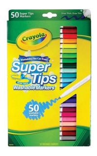 50 Plumones Crayola Super Tips Marcadores Delgados Lavables