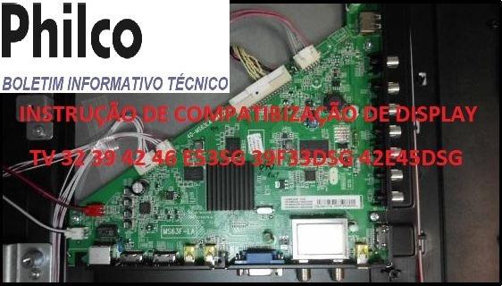 Instruções De Compatibilização Display Televisão Led Philco
