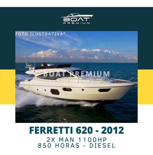 Imagem 1 de 1 de Ferretti 620, 2012, 2x Man 1100hp - Sedna - Azimut- Schaefer