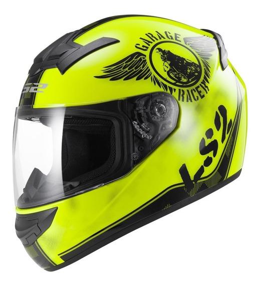 Casco Integral Moto Ls2 Ff 352 Fan Yellow Yuhmak