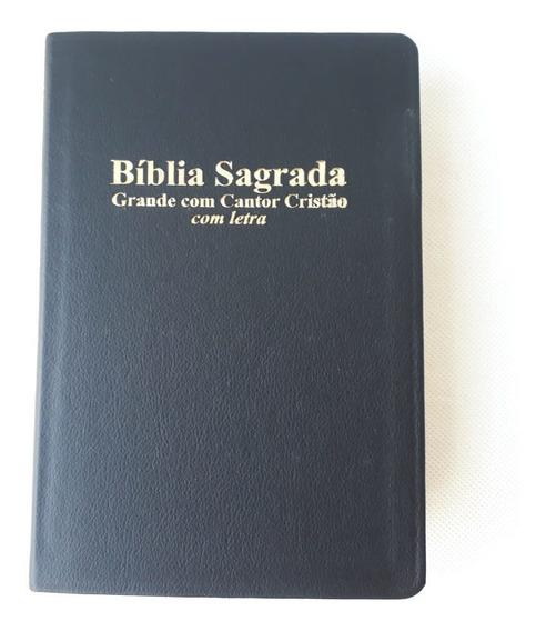 Bíblia Sagrada Grande Com Cantor Cristão / Com Letras / Pret