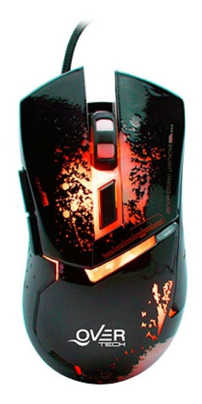 Mouse Overtech Ox-52 Gamer Usb Led Luz Dpi 12cts