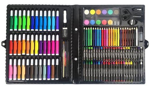 Set De Arte. Caja De Colores Y Marcadores.