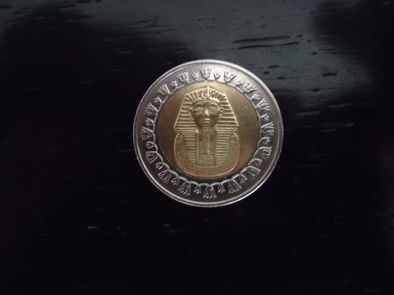 Moeda 1 Um One Pound Libra 2005 República Egito Tutancâmon