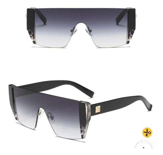 Óculos De Sol Futurista Black C2 Gradiente Uva Uvb
