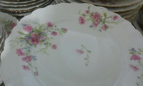 Muy Antiguos Platos De Porcelana Limoges Motivo Floral