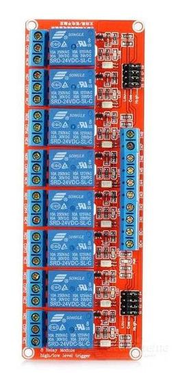 Módulo De Relé 3-em-1 8-ch 24v Com Optocoupler Para Arduino