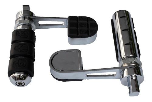 Imagen 1 de 5 de Posapies Con Talonera Cromados Para Harley Davidson