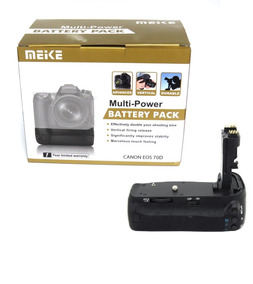 Grip Meike Canon 70d Mk-70d Funciona 6 Pilhas Ou 2 Baterias
