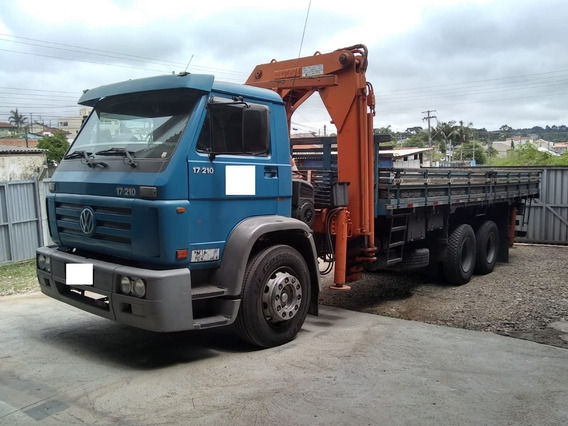 Caminhão Vw 17210/23210 Truck Com Guindaste Articulado Imap