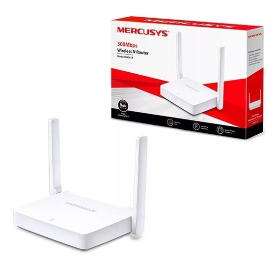 Roteador Tp Link Mercusys 300mbps Wifi Mw301r Wireless 2 Antenas Rede