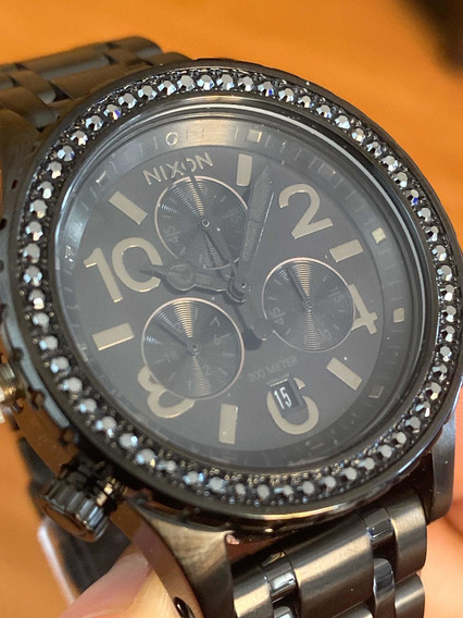Relógio Original Nixon Importado Australia All Black Crystal