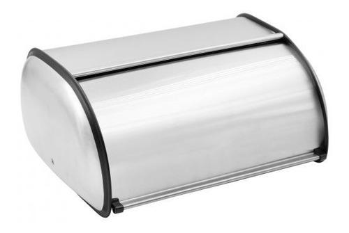 Imagen 1 de 4 de Panera Acero Inoxidable Home Concept 30x15cm Tapa Deslizante