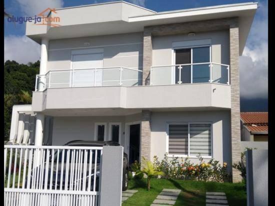 Lindo Sobrado, 4 Dormitórios, 243 M², Por R$ 1.038.800 - Massaguaçu - Caraguatatuba/sp - So1192