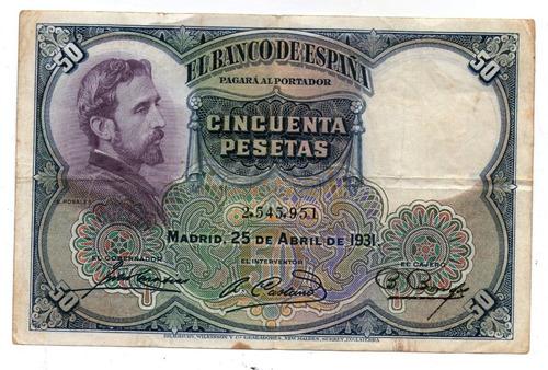 España Billete 50 Pesetas 1931 P#82 - Argentvs
