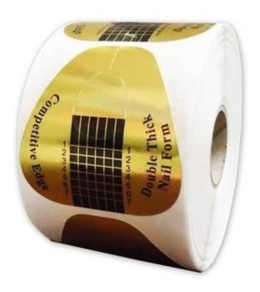 Rolo Com 500 Moldes Adesivos Coração Para Unha De Porcelana