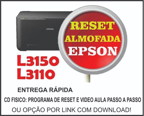 Imagem 1 de 1 de Reset Impressora Epson L3150 / L3110