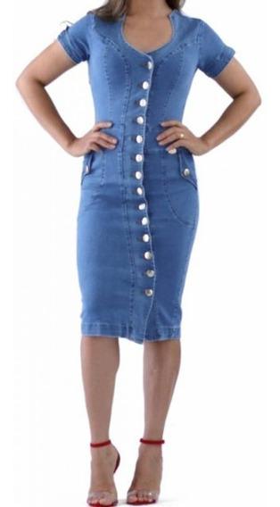 Kit 14 Vestidos Jeans Com Elastano Tamanho36 Ao 54 Plus Size
