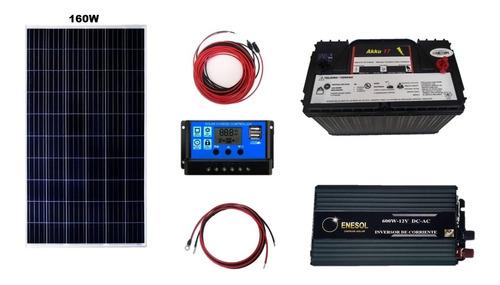 Imagen 1 de 6 de Kit Solar Fotovoltaico,max 8oowh/cada24h Envio Ocurre Gratis