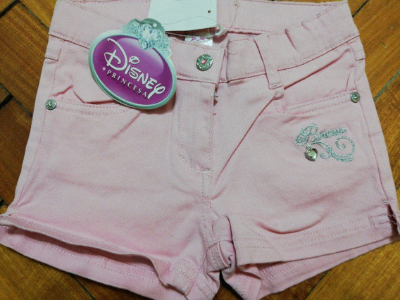 Short Rosa Princesas Disney Talle 6