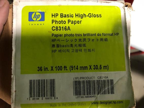Rollo Papel Fotografico High-gloss Para Plotter 36x100