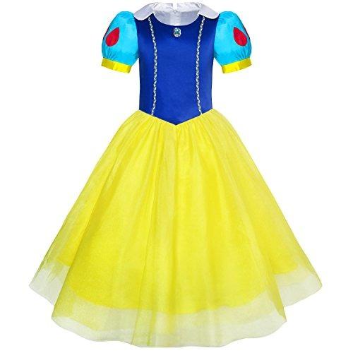 Vestido De Las Niñas Blancanieves Princesa Dibujos Animados