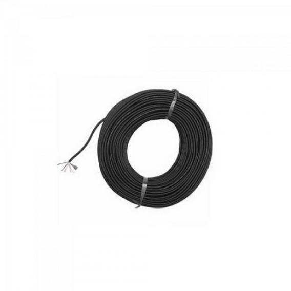 Fio Microfone Espiral 2x0,32mm² Preto Multcabo Com 100 Unida