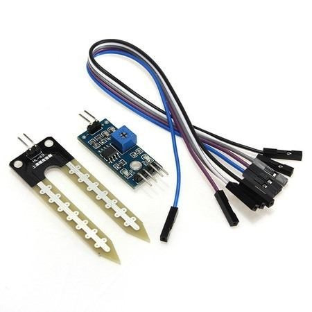 Sensor De Umidade De Solo Com Cabos Arduino Para Projetos