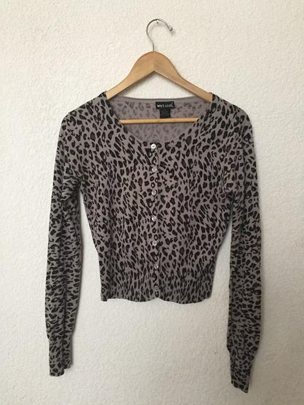 Suéter Ligero Estampado Leopardo