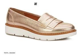 Flat Loafer Andrea Color Oro Alt. 3.5cms Mod.248-2644