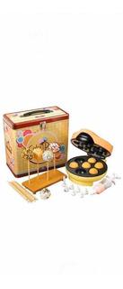 Kit Popcake Máquina + Set De Decoración + Exhibidor Madera