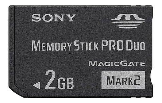 Cartão De Memoria Sony Pro Duo Mark2 2gb P/ Câmeras Digital