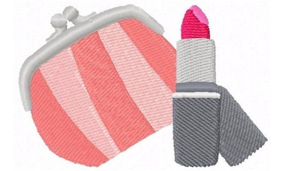 Bolsa E Batom 1 - Matriz De Bordado - Beldade Maquiagem
